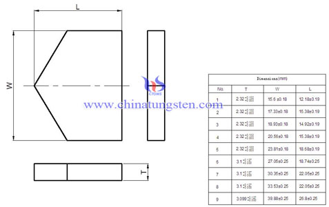 tungsten carbide blank